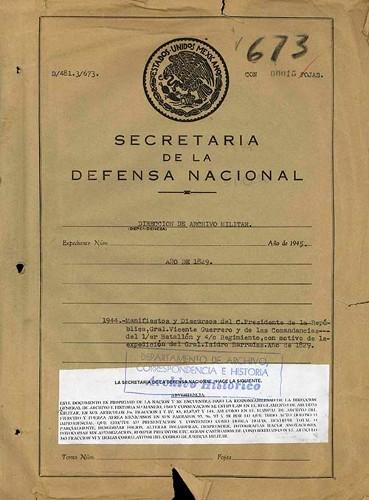 Imagen de Manifiestos y discursos de Vicente Guerrero como Presidente de la República y de las comandancias del Primer Batallón y Cuarto Regimiento (atribuido)