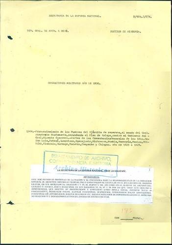 Imagen de Pronunciamiento de las fuerzas del Ejército de Reservas al mando de Anastasio Bustamante apoyando el Plan de Xalapa contra el gobierno de Vicente Guerrero (atribuido)
