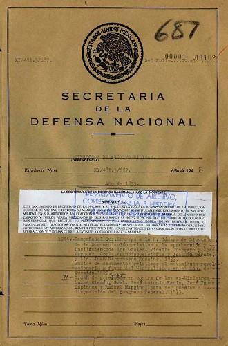 Imagen de Campaña del Sur entrega a la Cámara de Diputados la documentación sobre la aprehensión y fusilamiento del General Vicente Guerrero y otros Generales (atribuido)