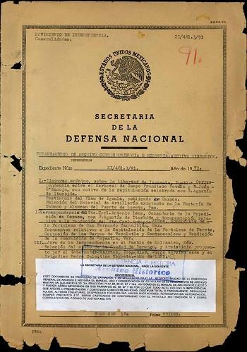 Imagen de Documentación diversa con respecto a la culminación de la firma y rendición de la Guerra de Independencia (atribuido)