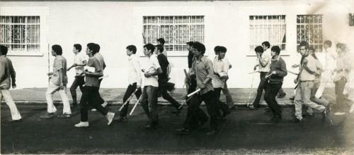 Imagen de Los Halcones preparándose para reprimir estudiantes (atribuido)