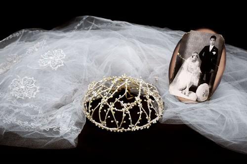 Imagen de Fotografía de la boda de Jorge Wongñis Cuan y Guadalupe Monsiváis Vaca (atribuido)