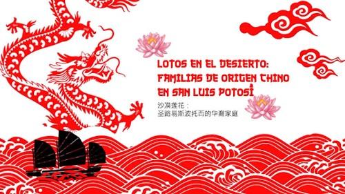 Imagen de Lotos en el desierto: familias de origen chino en San Luis Potosí (propio), Mapa de la ruta de imigrantes chinos a México (atribuido)